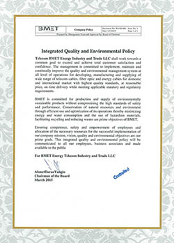 Integrated Quality and Environmental Policy